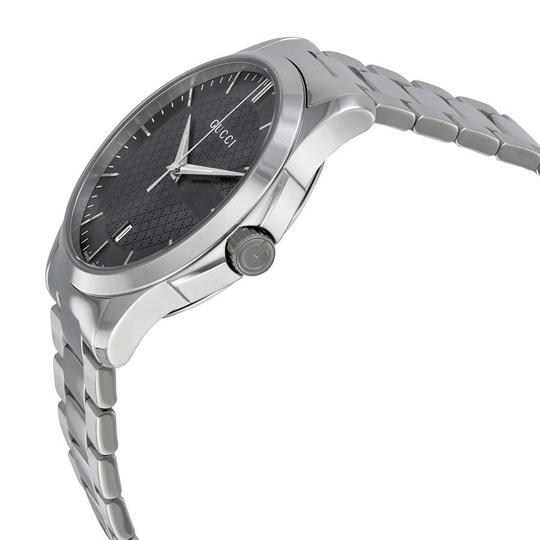 Gucci Unisex Watch Grey Dial Silver Tone Stainless Steel Designer Watch