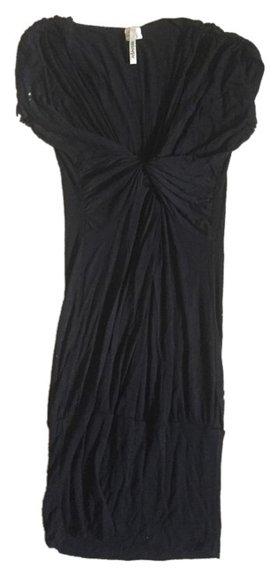 Misope short dress Black Knotted Front Detail on Tradesy
