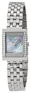 Gucci Gucci Ladies Watch Mother of earl and Diamonds Dial Silver Tone Ladies Designer Watch