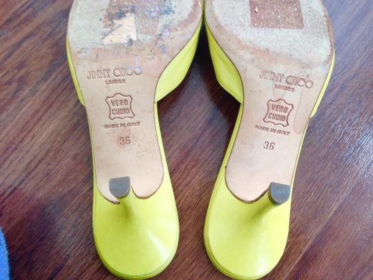 Jimmy Choo Kitten Leather Spring Summer Chartreuse Pumps