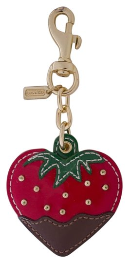 Preload https://item1.tradesy.com/images/coach-red-multi-color-chocolate-dipped-strawberry-patent-leather-purse-charm-92832-nwot-4948975-0-0.jpg?width=440&height=440
