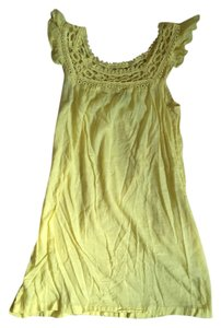Roxy short dress Yellow Lace Cute on Tradesy