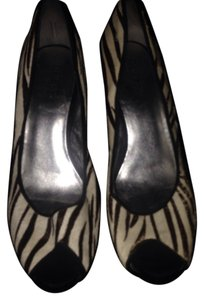 Guess Black & White Zebra Platforms
