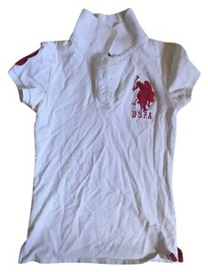 U.S. Polo Assn. Classic Trendy Preppy Top White