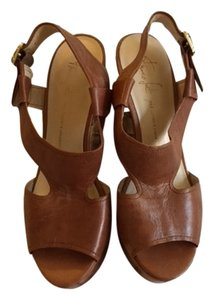 Franco Sarto Wedge Casual Leather Gold brown Wedges