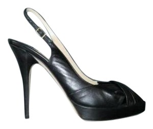 Jimmy Choo Poem Leather Black Pumps