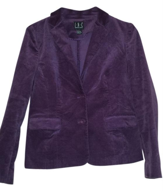 INC International Concepts Velvet Purple, eggplant Blazer