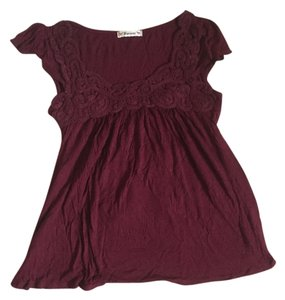 Forever 21 Cute Girly Preppy Trendy Top Maroon