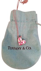 Tiffany & Co. Tiffany & Co Silver 5 Pink Sapphire Etoile Heart Necklace