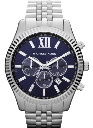 Preload https://item3.tradesy.com/images/michael-kors-silver-with-blue-dial-mk-8280-watch-4950382-0-0.jpg?width=440&height=440