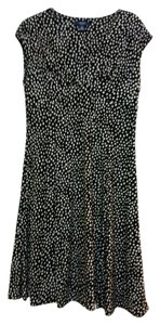 Chaps short dress Black with White Polka Dots Dot on Tradesy