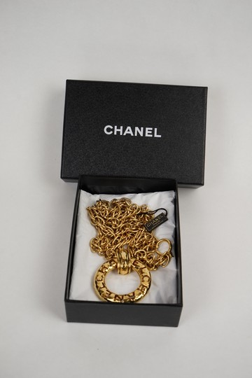 Chanel Chanel Gold Chain Necklace with Pendant