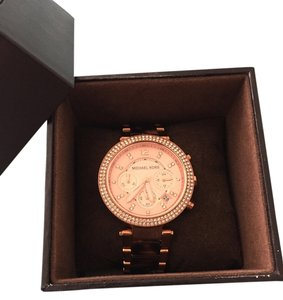 Michael Kors Rose Gold and Tortoise Michael Kors watch