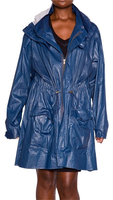 Donna Karan Hood Jacket Trench Coat