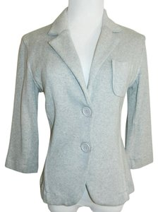 525 America New Size Medium Jacket 3/4 Sleeves Bodycon Stretch Heather Gray Blazer