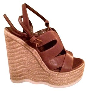 Saint Laurent brown & sand Wedges