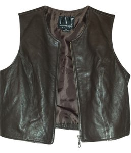 INC International Concepts Leather Vest