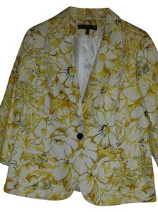 Harvé Benard Flowers Yellow Blazer