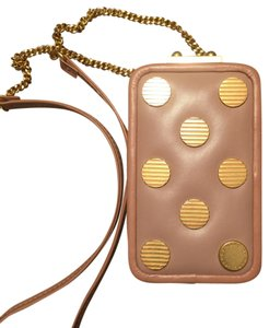Marc by Marc Jacobs Dots Pink Phonecase Cute Goldhardware Cross Body Bag