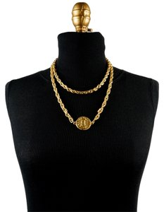 Chanel Chanel Gold CC Medallion Necklace