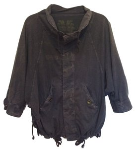 Free People Distressed Navy Jacket
