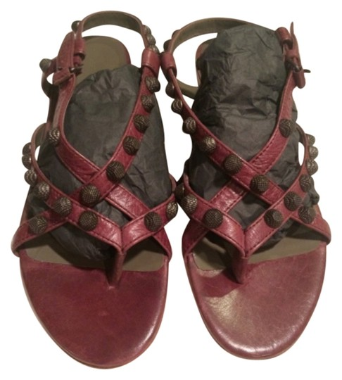 Balenciaga Burgundy Sandals
