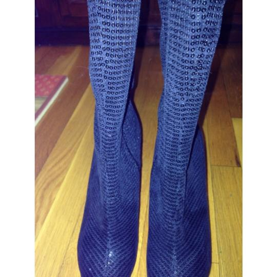 Lady Couture Sequin Black Boots