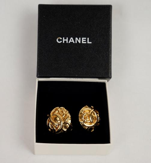 Chanel Chanel Gold Double CC Earrings Image 1