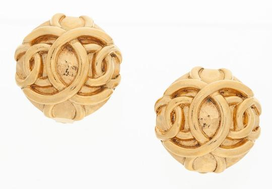Chanel Chanel Gold Double CC Earrings Image 2