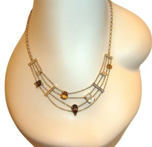 Other Gold Plated Sterling Silver Semi-Precious Gemstones Citrine Modernist Necklace