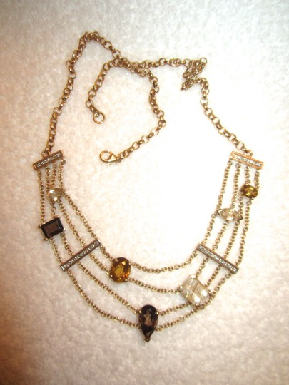 Other Gold Plated Sterling Silver Semi-Precious Citrine Modernist Necklace Image 1
