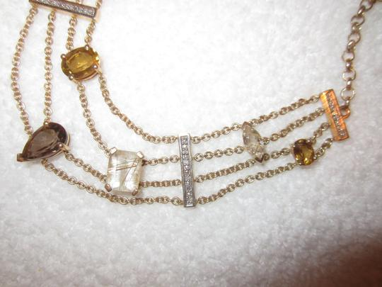Other Gold Plated Sterling Silver Semi-Precious Citrine Modernist Necklace Image 2