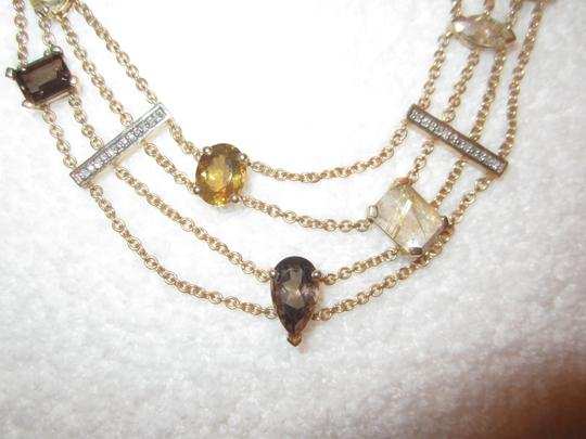 Other Gold Plated Sterling Silver Semi-Precious Citrine Modernist Necklace Image 3
