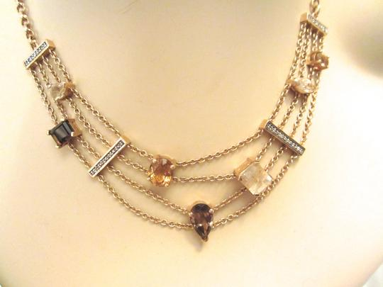 Other Gold Plated Sterling Silver Semi-Precious Citrine Modernist Necklace
