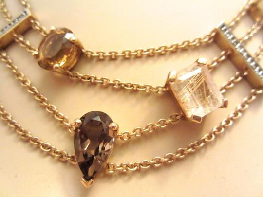 Other Gold Plated Sterling Silver Semi-Precious Citrine Modernist Necklace Image 8