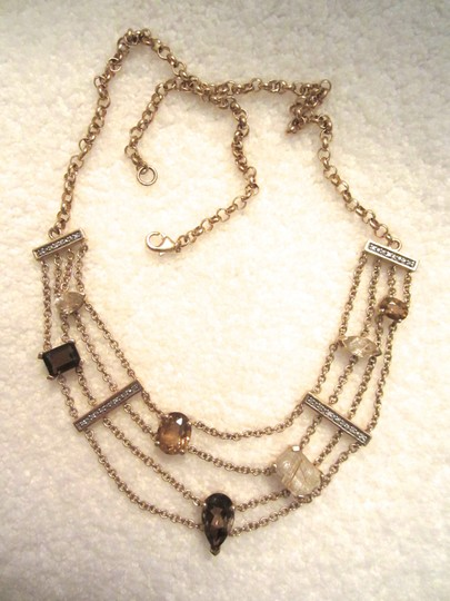 Other Gold Plated Sterling Silver Semi-Precious Citrine Modernist Necklace Image 9