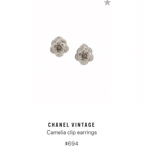 Chanel Chanel Gold Camellia Earrings with CC Detail Image 2
