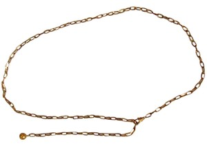 Gold jeweled chain-link belt will fit up to 50