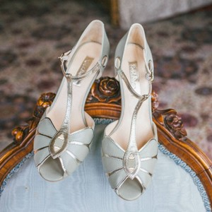 BHLDN Ivory Mimosa T-strap Rachel Simpson 38 7.5 8.5 Formal Size US 8 Regular (M, B)
