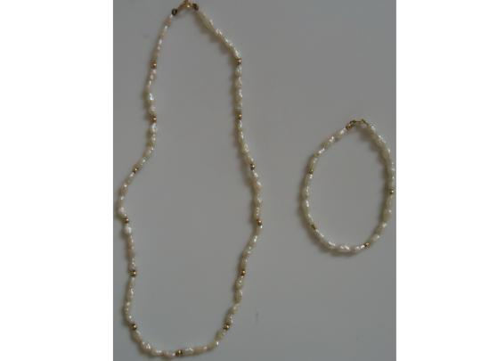 Other Natural freshwater pearls necklace/bracelet set