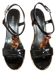 Vaneli Tortoise Shell Black Wedges