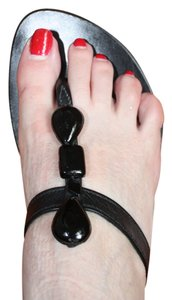 Bo'em Thong $195 Black Sandals