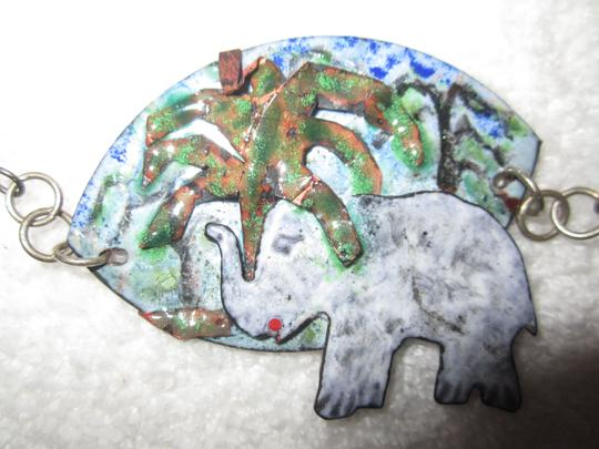 LPF LPF Elephant Folk Art Statement Sterling Silver Chain Necklace Image 10