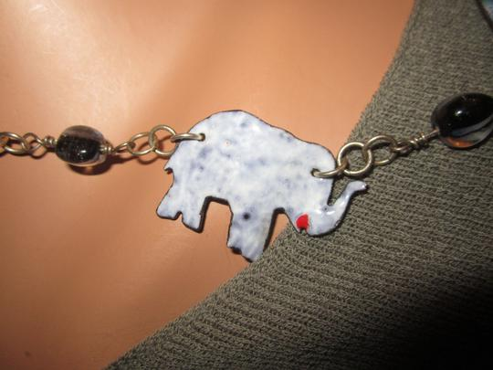LPF LPF Elephant Folk Art Statement Sterling Silver Chain Necklace Image 6