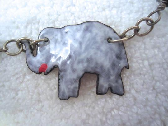 LPF LPF Elephant Folk Art Statement Sterling Silver Chain Necklace Image 7