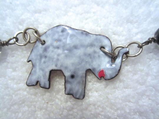 LPF LPF Elephant Folk Art Statement Sterling Silver Chain Necklace Image 8