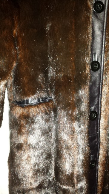 Jerry Lewis Faux Fur Leather Fur Coat