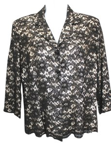 David Warren Black Lace Top