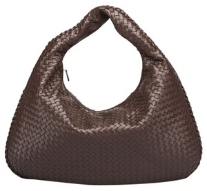 Bottega Veneta Nappa Leather Woven Classic Hobo Bag