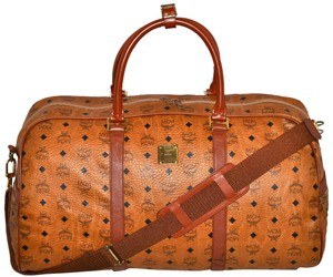 MCM Modern Creation Munich Modern Creation Munchen Made In Germany Cognac Cognac Monogram Monogram Monogram Pattern High Brown Travel Bag